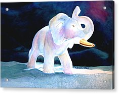 Acrylic Print featuring the painting Mama's White Elephant by Sharon Mick