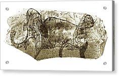 Mammoth, Prehistoric Bone Art Acrylic Print