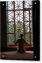 Man At Prayer Acrylic Print