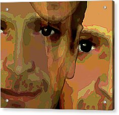 Acrylic Print featuring the painting Man In The Mirror 1 by Jann Paxton