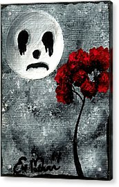 Man In The Moon Acrylic Print by Oddball Art Co by Lizzy Love