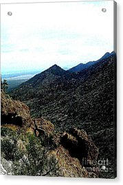 Man On A Mountain Acrylic Print