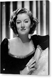 Man-proof, Myrna Loy, Mgm Portrait Acrylic Print by Everett