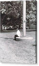 Man Resting At Pole Acrylic Print
