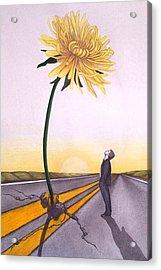 Man Vs. Nature Acrylic Print by Michelle Harrington