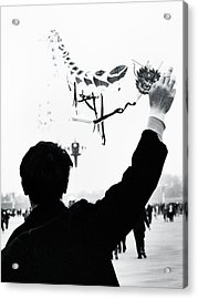 Man With A Kite Acrylic Print by Linde Townsend