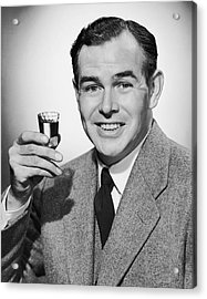 Man With Alcoholic Beverage Acrylic Print by George Marks