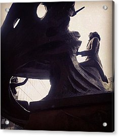 #manchester #chopin #statue  #deansgate Acrylic Print