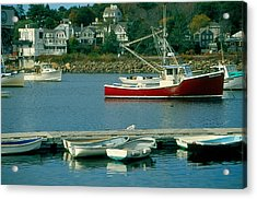 Manchester Harbor Manchester By The Sea Ma   Acrylic Print by Stephen Prunier