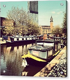 #manchester #manchestercanal #canal Acrylic Print