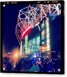 #manchester #manchesterunited Acrylic Print