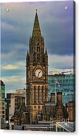 Manchester Town Hall Acrylic Print by Heather Applegate