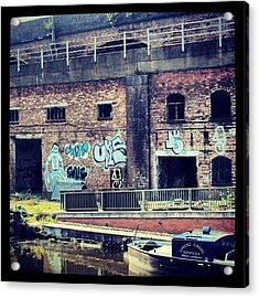 #manchestercanal #manchester #canal #uk Acrylic Print by Abdelrahman Alawwad