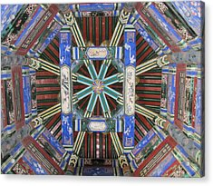 Mandala Acrylic Print by Kimberley Bennett