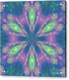 Mandala Acrylic Print by Kirila Djelepova