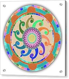 Mandala Meditation 1 V2 Acrylic Print