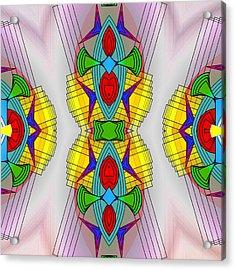 Mandala Mystery Acrylic Print by Mario Carini