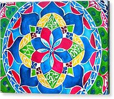 Mandalas Circle Of Life Acrylic Print