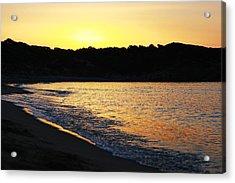 Mandraki Elias Beach Sunset Skiathos Acrylic Print by Nick Karvounis