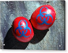 Mangoes And Biohazard Symbols Acrylic Print