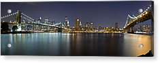 Manhattan At Night Panorama 2 Acrylic Print