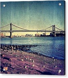 Manhattan Bridge - New York Acrylic Print