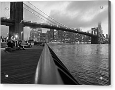 Manhattan Bridge Acrylic Print by Nina Mirhabibi