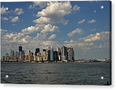 Manhattan Acrylic Print by Diane Lent