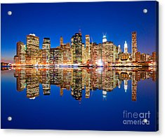 Acrylic Print featuring the photograph Manhattan by Luciano Mortula