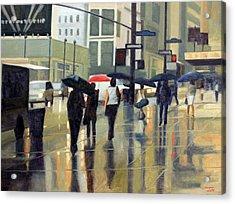 Manhattan Rain Acrylic Print