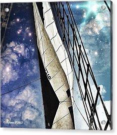 Manhattan Sail-the Clipper Acrylic Print