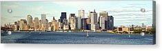 Manhattan Skyline Panarama Acrylic Print