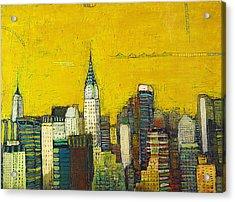 Manhattan With Chrysler And Empie Acrylic Print by Habib Ayat