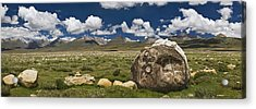 Mani Rocks Carved With The Tibetan Acrylic Print by Phil Borges