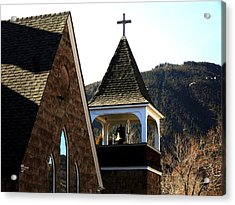 Acrylic Print featuring the photograph Manitou Springs Steeple by Clarice  Lakota