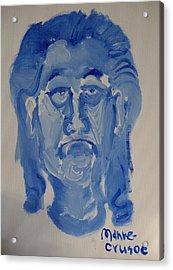 Manne-crusoe Blue Acrylic Print by Jay Manne-Crusoe