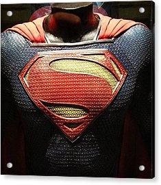 #manofsteel #superman #costume Acrylic Print