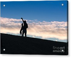 Acrylic Print featuring the photograph Mans Best Friend by Andrew  Michael