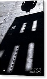 Man's Shadow Black White Acrylic Print