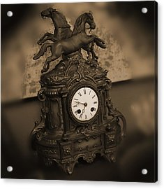 Mantel Clock Acrylic Print by Mike McGlothlen