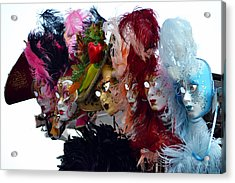 Many Faces Of Venice. Acrylic Print by Terence Davis