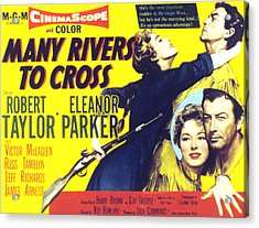 Many Rivers To Cross, Eleanor Parker Acrylic Print