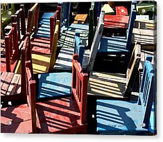 Acrylic Print featuring the photograph Many Seats For Learning by EricaMaxine  Price