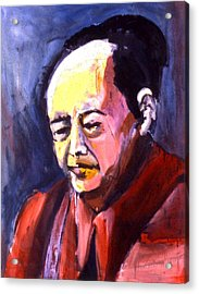 Mao Acrylic Print by Les Leffingwell
