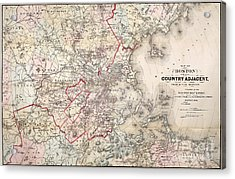 Map: Boston, 1883 Acrylic Print