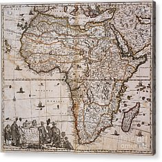 Map Of Africa, 1688 Acrylic Print by Photo Researchers