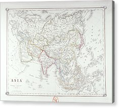 Map Of Asia Acrylic Print by Fototeca Storica Nazionale