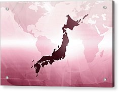 Map Of Japan Acrylic Print by Maciej Frolow
