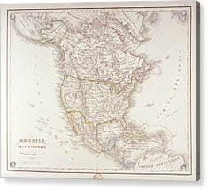 Map Of North America Acrylic Print by Fototeca Storica Nazionale