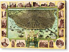 Map Of Saint Louis Acrylic Print by Pg Reproductions